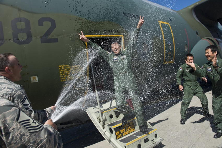 Japanese airman celebrates milestone