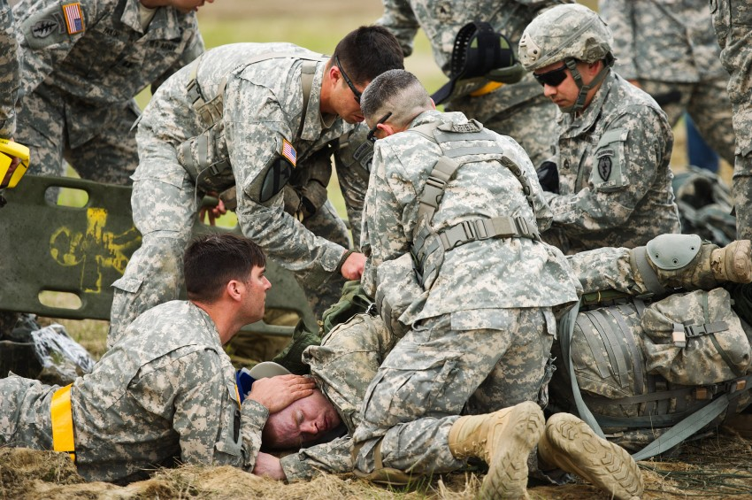 Army paratrooper jump